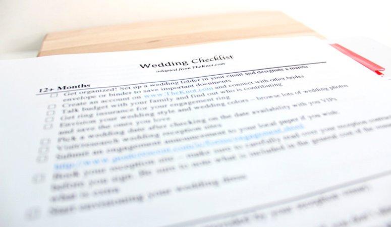 The Ultimate Wedding Planning Checklist - Lindsay Ropella